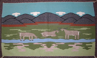 Navajo Indian Rug Pictoral SOLD