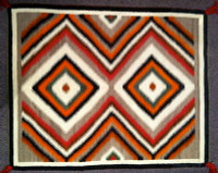 Navajo Indian Rug Red Mesa 1940's