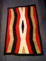 Navajo Indian Rug 1940's Eye Dazzler NIRED4 3464
