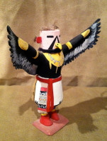 Kachina Palakwai Red Tailed Hawk Hopi Kachina 1950's SOLD