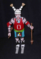 Kachina A.L. Sahmie Hano Clown Skiier With Basketball Jersey 8