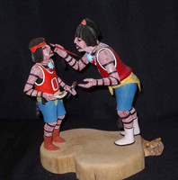 Kachina A.L. Sahmie Hano Clowns Painting 12