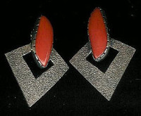 EARRINGS HOPI CORAL PHIL POSEYESVA SOLD