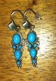 Feeney Sterling Silver Turquoise Dangle French Wire Earrings
