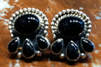 EARRINGS STERLING SILVER ONYX Don Lucas