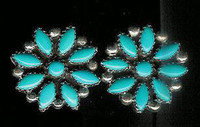 EARRINGS*TURQUOISE*CLUSTER*RS SOLD