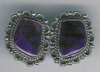 EARRINGS NAVAJO SUGILITE W_2 SOLD