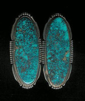 EARRINGS*NAVAJO*SILVER*TURQUOISE*S Spencer