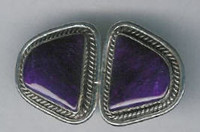 EARRINGS NAVAJO SUGILITE W_1