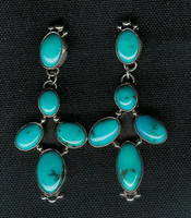 EARRINGS*NAVAJO*SILVER*TURQUOISE* SOLD