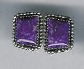 EARRINGS NAVAJO SUGILITE JEANETTE DALE SOLD