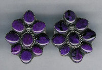 EARRINGS*NAVAJO*SUGILITE*JEANETTE DALE ERNSJD4 SOLD