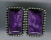 EARRINGS NAVAJO SUGILITE JEANETTE DALE ERNSJD2