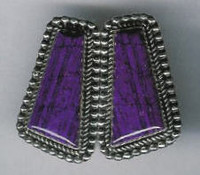 EARRINGS*NAVAJO*SUGILITE*JEANETTE DALE SOLD