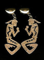 EARRINGS*HOPI*GOLD*Roy Talahaftewa
