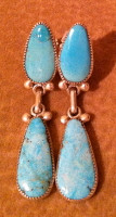 EARRINGS*NAVAJO*SILVER*TURQUOISE*RLD SOLD