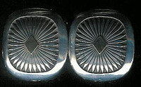 EARRINGS NAVAJO 14KT GOLD & SILVER SQUARE FEATHER PATTERN Howard Nelson ENGSSFPHN3 SOLD