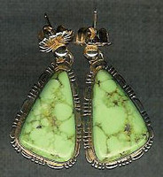 EARRINGS NAVAJO GOLD GASPEITE TF