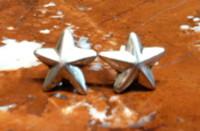 EARRINGS NAVAJO SILVER STAR MOTIF FJ