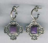 Don Lucas Sugilite Earrings SOLD