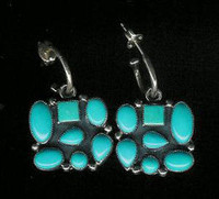 Don Lucas Turquoise Earrings DLE2