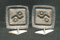 CUFF LINKS ZUNI SILVER & GOLD Myron Panteah SOLD