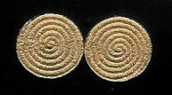 CUFF LINKS NAVAJO GOLD Al Nez