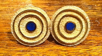 CUFF LINKS NAVAJO GOLD LAPIS Al Nez
