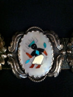 CONCHO BELT ZUNI LEONARD & EDITH LONJOSE APACHE GAN DANCER SOLD