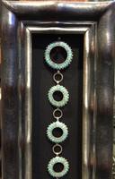 Zuni Pawn Inlay Round Link Turquoise Concho  Belt_32 Dishta