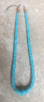 SANTO DOMINGO 1 STRAND SLEEPING BEAUTY TURQUOISE WAFER LONG NECKLACE