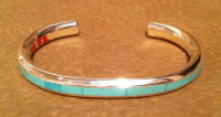 BRACELETS ZUNI MULTI-INLAY VARACITE Thomas Natachu SOLD