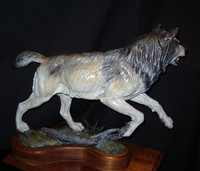 "BRONZE WOLF  Robert B.Tate ""The Hunter""_1 SOLD"