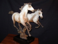 "BRONZE Jack Muir ""Pryor Mountain Ponies"" SOLD"