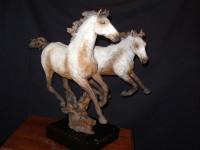 """BRONZE Jack Muir """"Pryor Mountain Ponies"""" SOLD"""