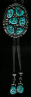 BOLO TIES NAVAJO TURQUOISE NUGGET