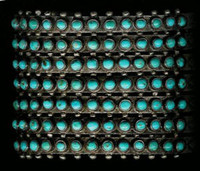 BRACELETS*ZUNI*SILVER*TURQUOISE*PETTIPOINT*PAWN