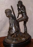 """Bronze R.V. Greeves """"Beaver Men"""""""