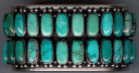 BRACELETS NAVAJO SILVER BLUE GEM TURQUOISE Paul Livingston SOLD