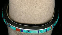 BRACELETS*NAVAJO*SILVER*MULTI-INLAY*Jimmie King Jr. SOLD