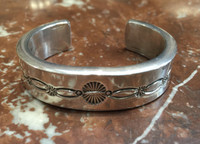 BRACELETS NAVAJO SILVER PAWN EXTRA SMALL D