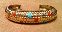 BRACELETS*HOPI*14KT GOLD*CORN MOTIF*Don Supplee SOLD