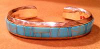 BRACELETS NAVAJO TURQUOISE CONTEMPORARY Calvin Begay