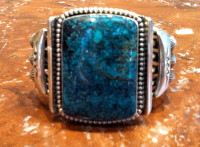 BRACELETS NAVAJO SILVER TURQUOISE Jeanette Dale SOLD
