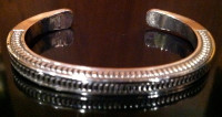 BRACELET NAVAJO SILVER STAMPED RS SOLD