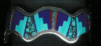 BRACELETS*NAVAJO*SILVER*MULTI-INLAY*Wilbert Muskett SOLD