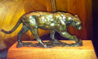 "BRONZE Kenneth Bunn ""Striding Cougar"" SOLD"