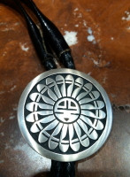 BOLO TIES HOPI SILVER SUNFACE Willie Archie D SOLD