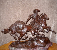 "BRONZE Elie Hazak ""Hunter On The Trail"" SOLD"