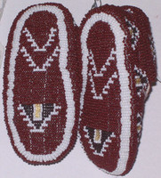 Native American Indian Style Fully Beaded Burial Moccasins